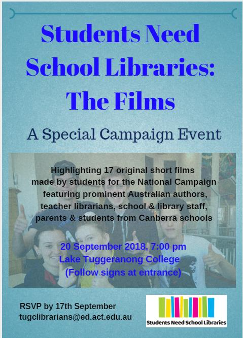 Students need school libraries: the films